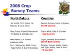 2008 crop survey teams