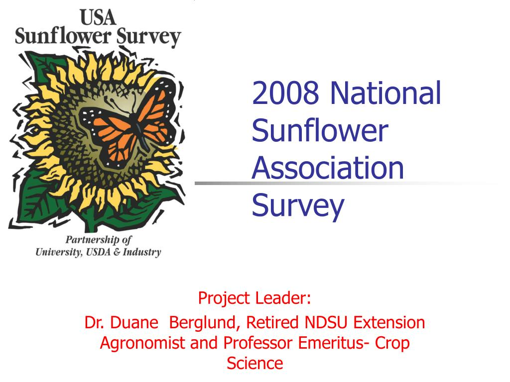 2008 national sunflower association survey l.