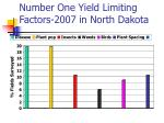 number one yield limiting factors 2007 in north dakota