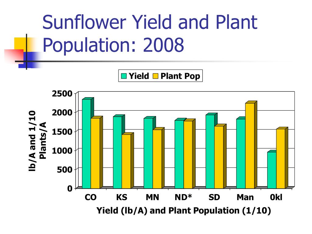 Sunflower Yield and Plant Population: 2008