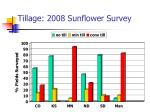 tillage 2008 sunflower survey