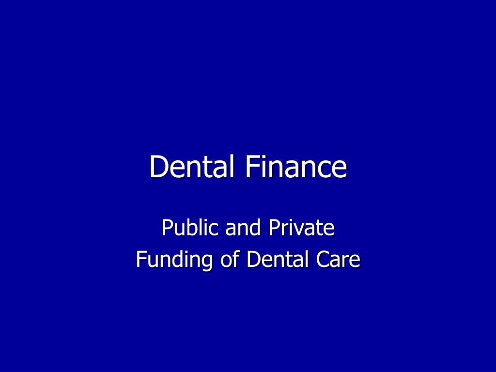 Dental Finance