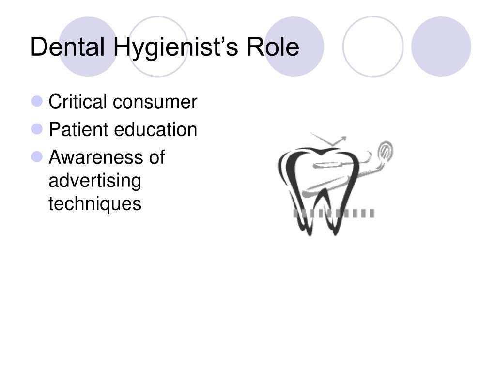 Dental Hygienist's Role