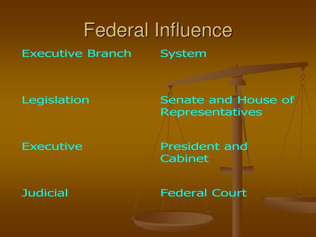 Federal Influence