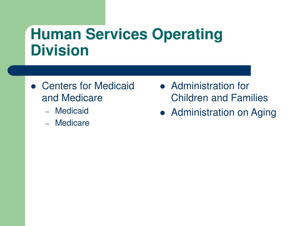 Centers for Medicaid and Medicare