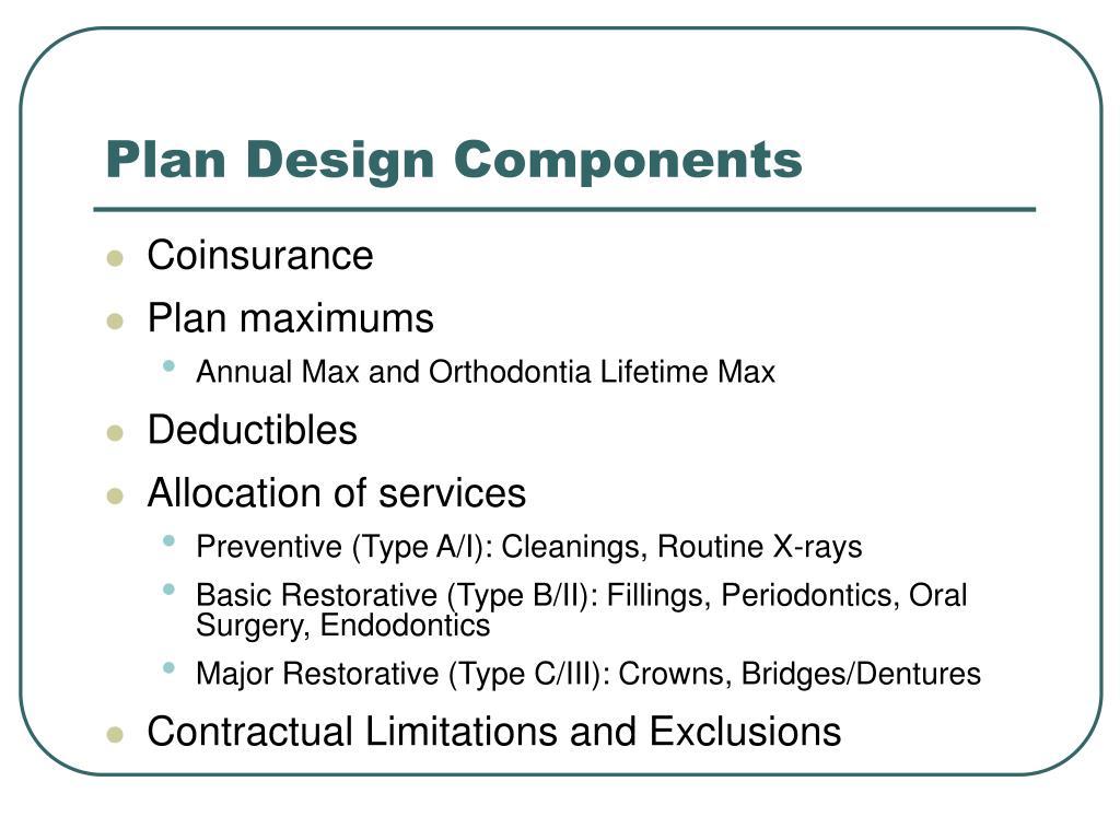 Plan Design Components