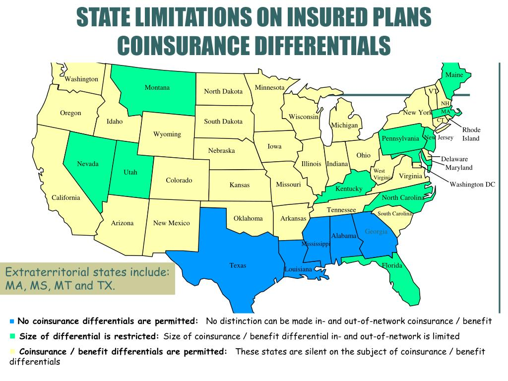 STATE LIMITATIONS ON INSURED PLANS