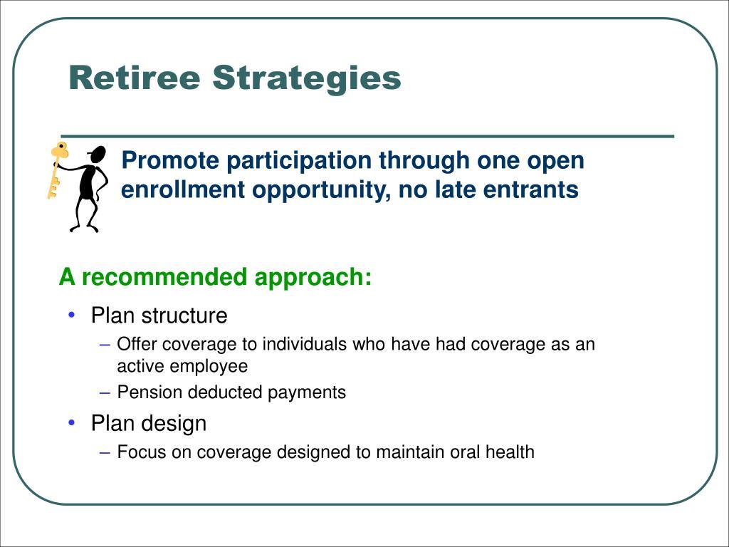 Retiree Strategies