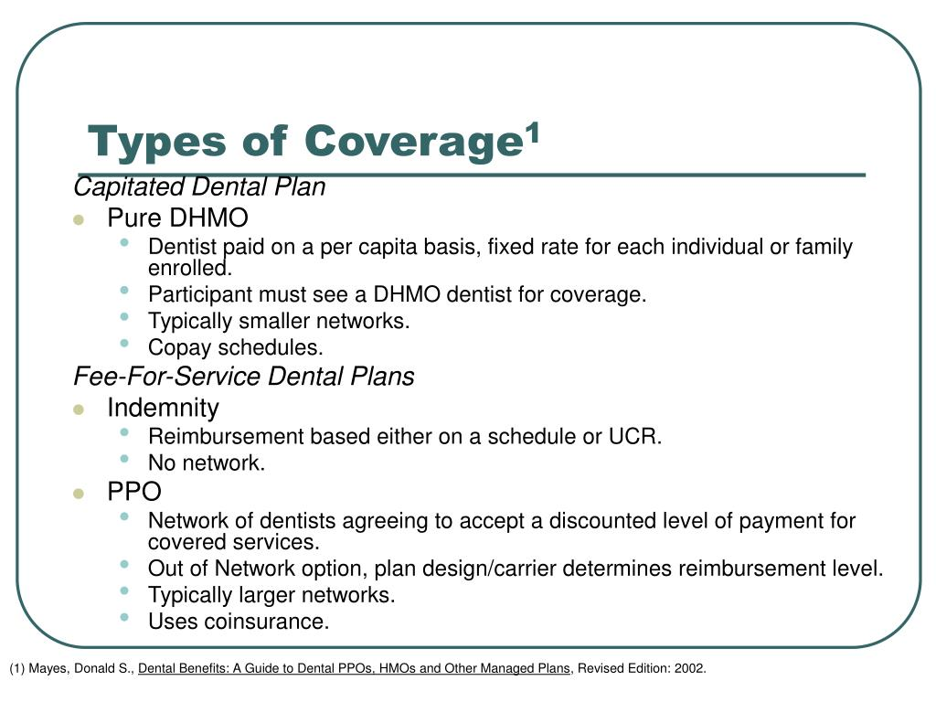 Types of Coverage