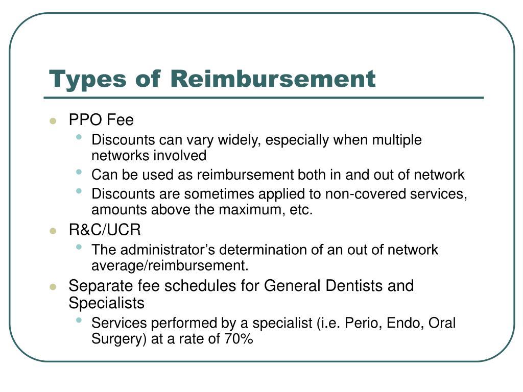 Types of Reimbursement