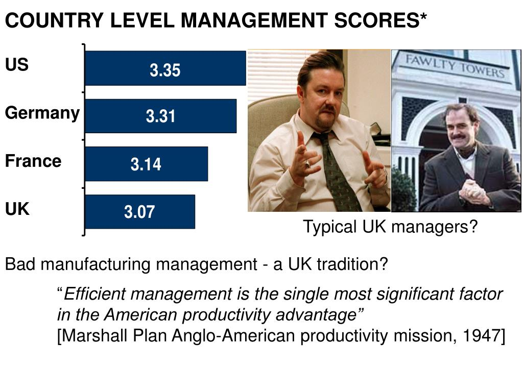 COUNTRY LEVEL MANAGEMENT SCORES*
