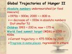 global trajectories of hunger ii