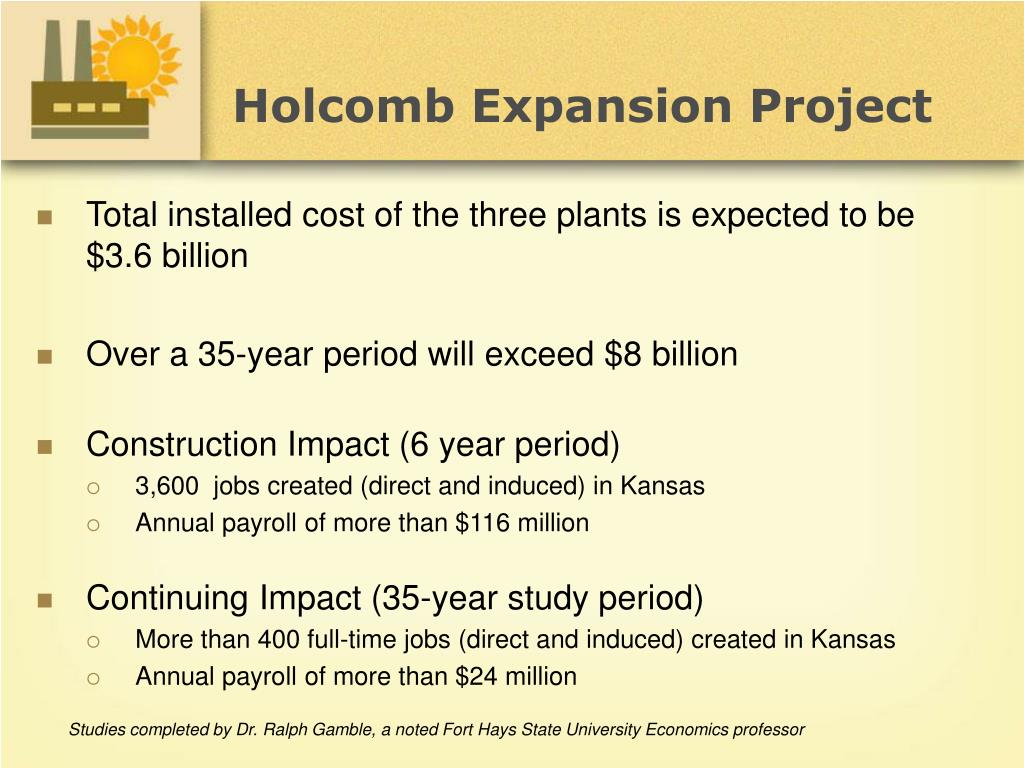 Holcomb Expansion Project