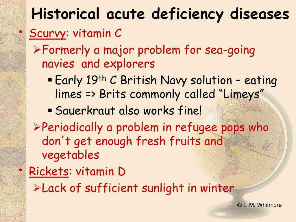 Historical acute deficiency diseases