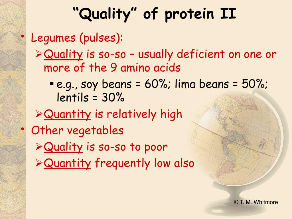 """Quality"" of protein II"