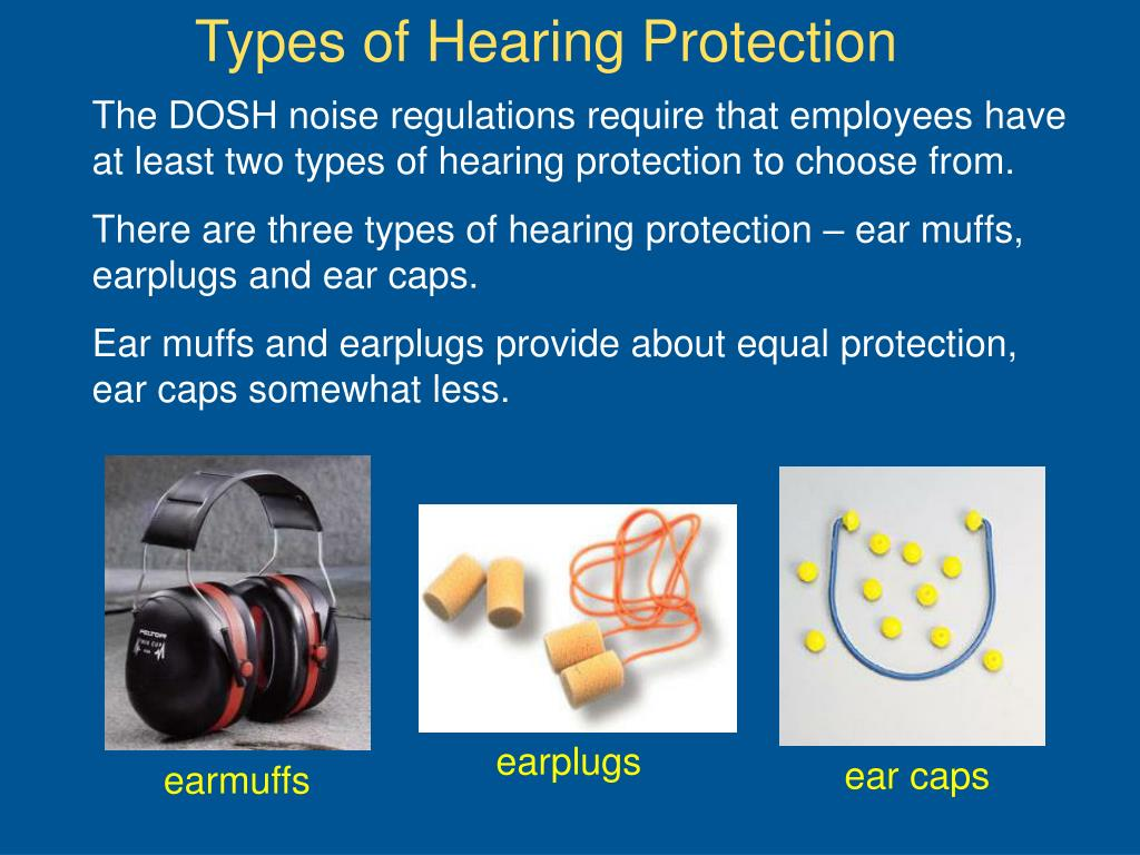 Types of Hearing Protection