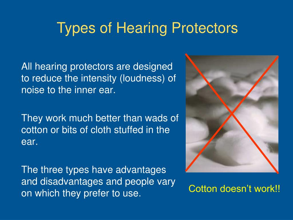 Types of Hearing Protectors