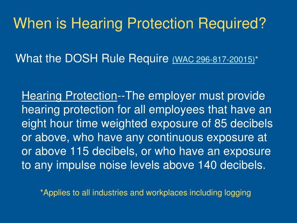 When is Hearing Protection Required?
