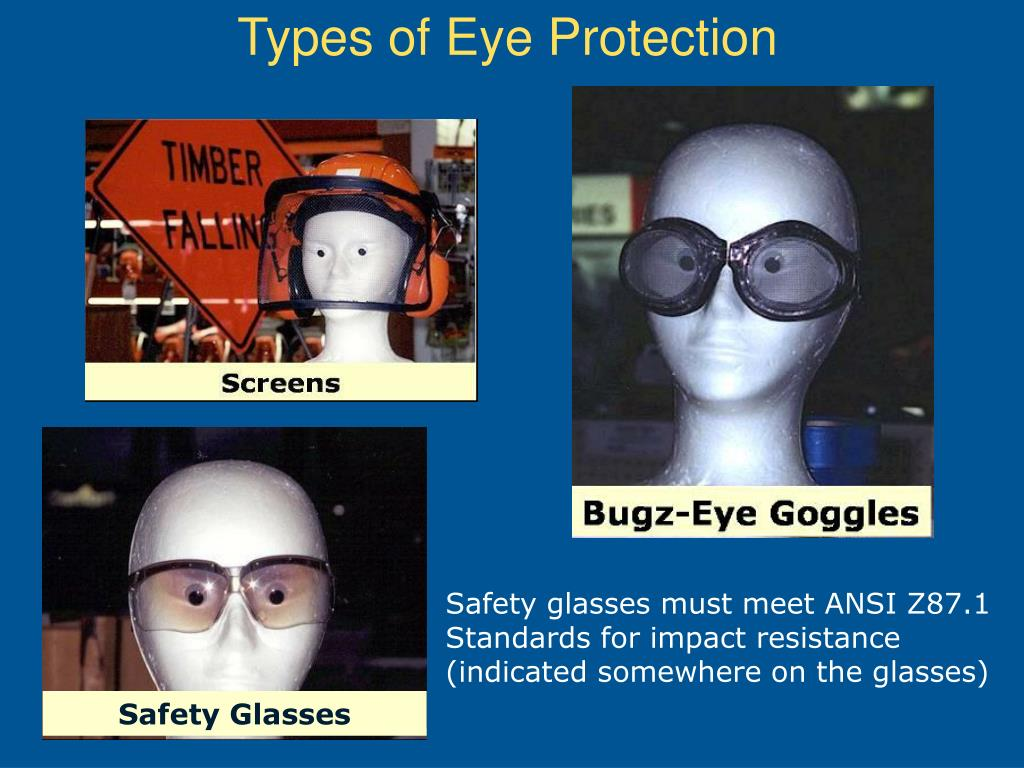 Types of Eye Protection