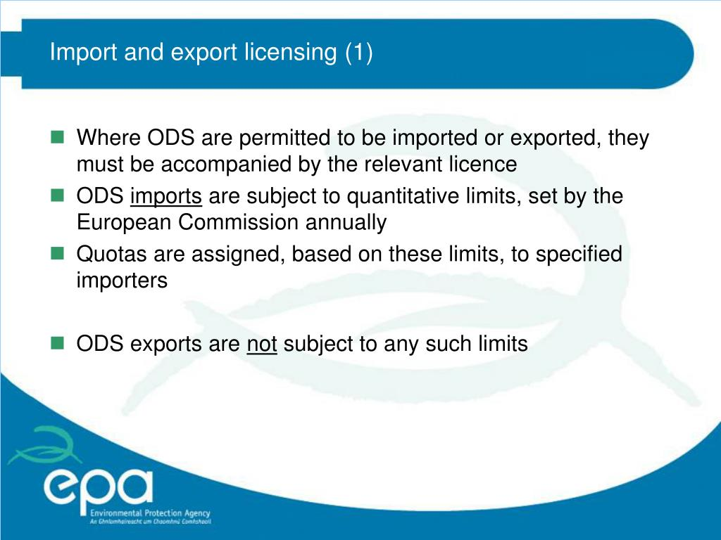 Import and export licensing (1)