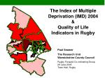 the index of multiple deprivation imd 2004 quality of life indicators in rugby