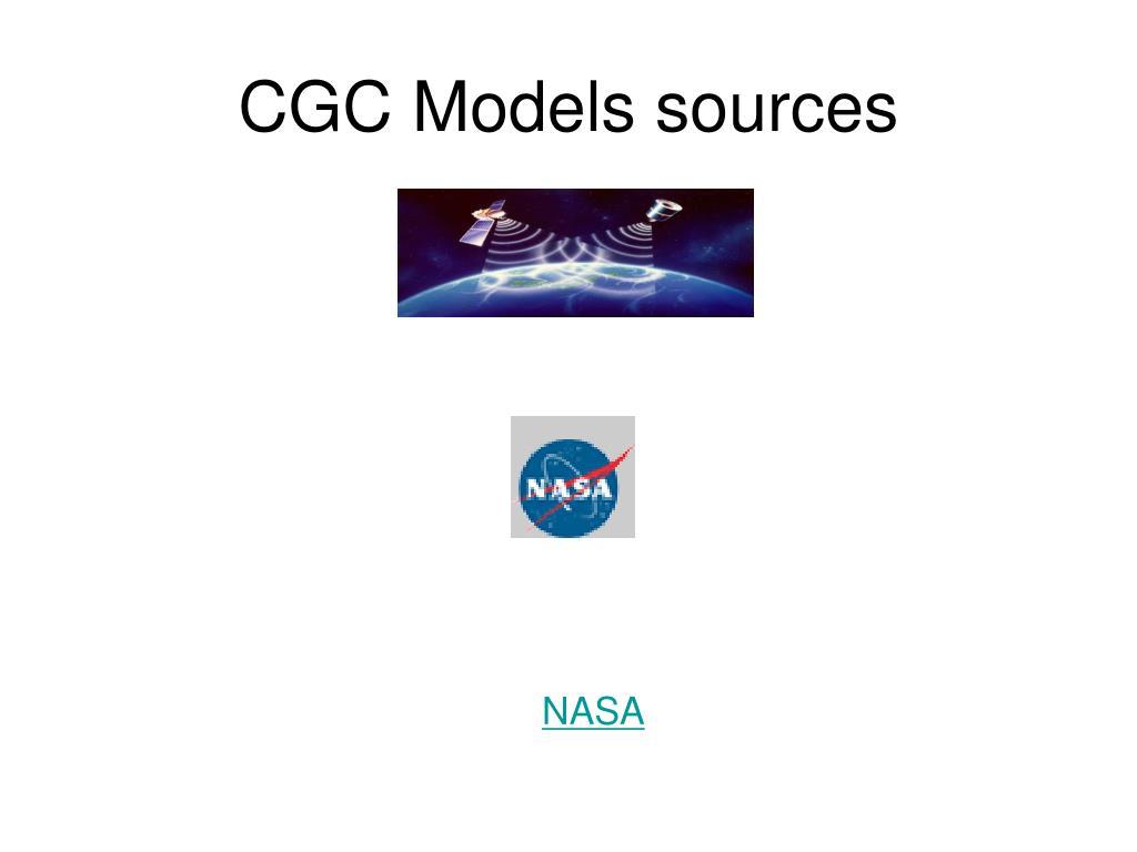 CGC Models sources