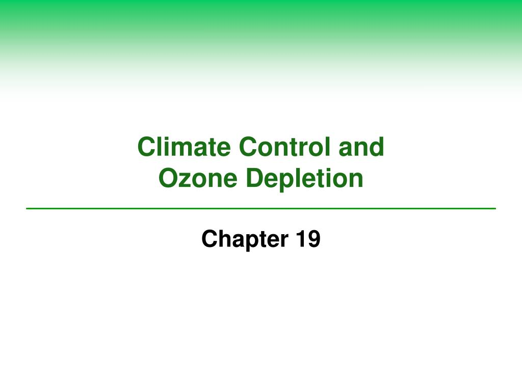 Climate Control and