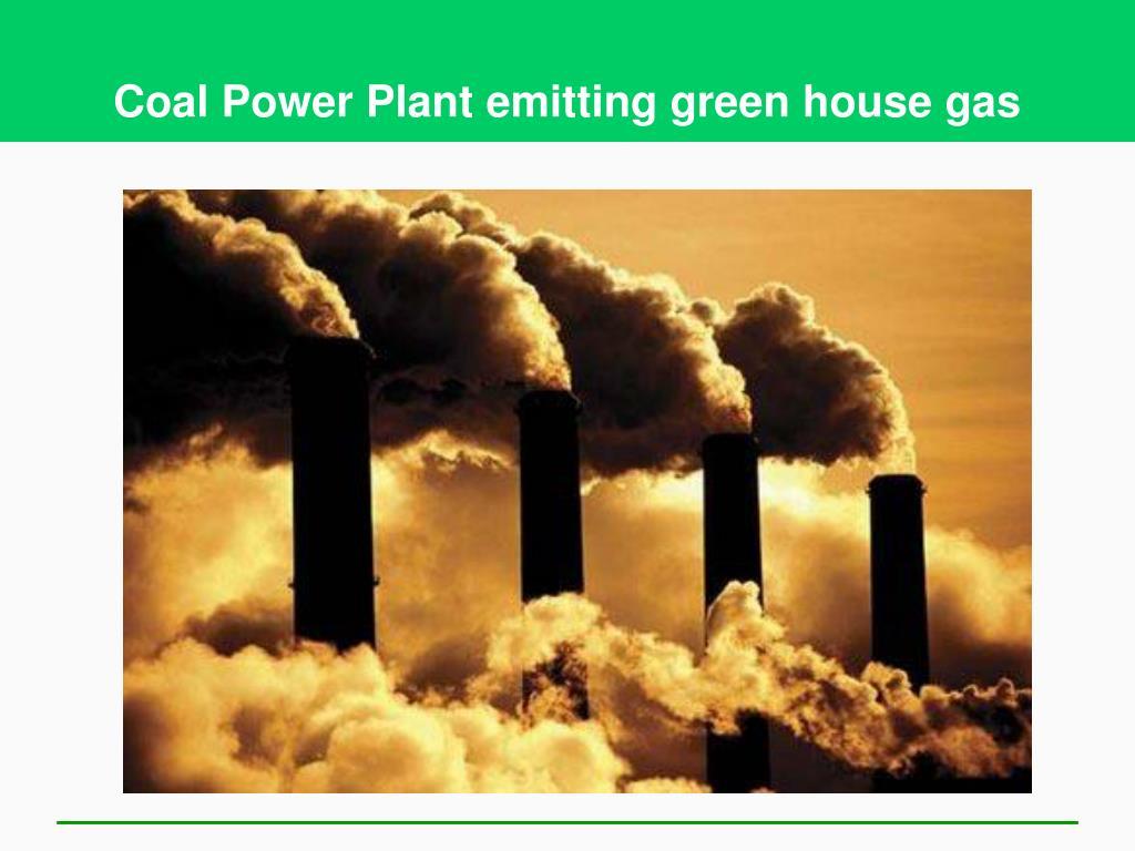Coal Power Plant emitting green house gas