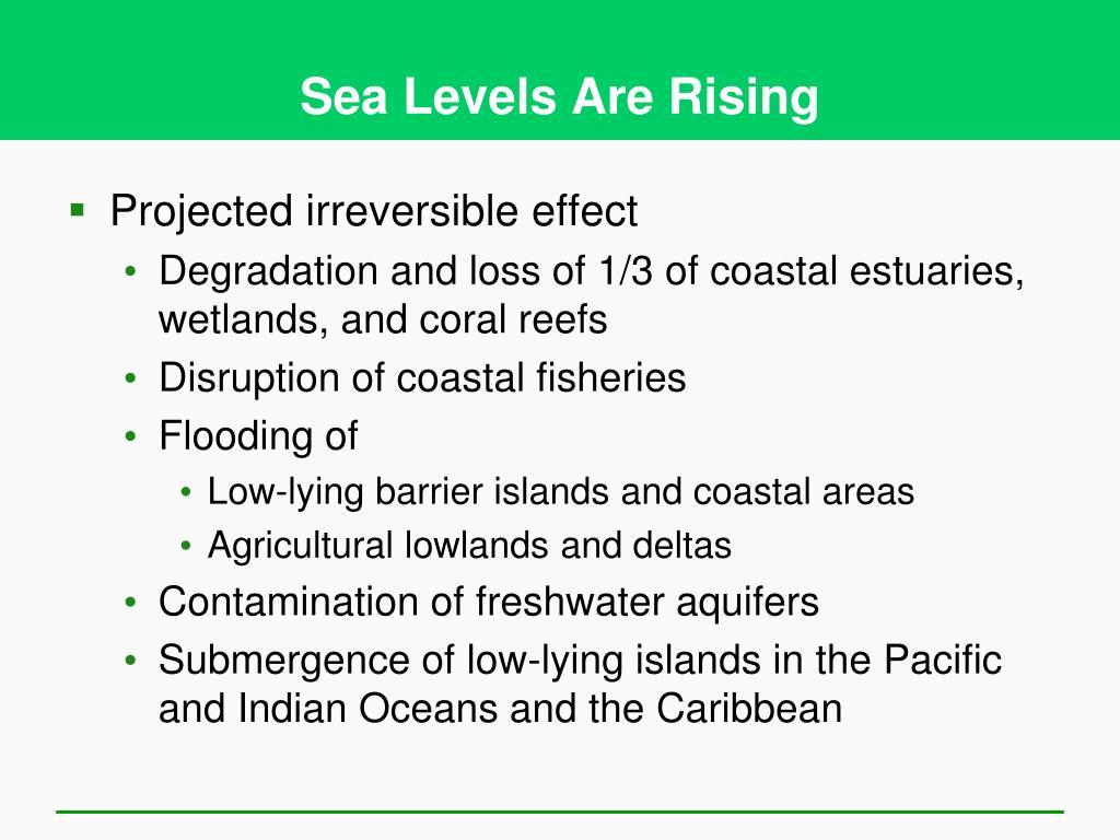 Sea Levels Are Rising