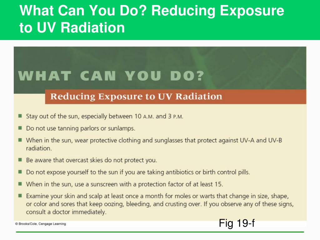 What Can You Do? Reducing Exposure to UV Radiation