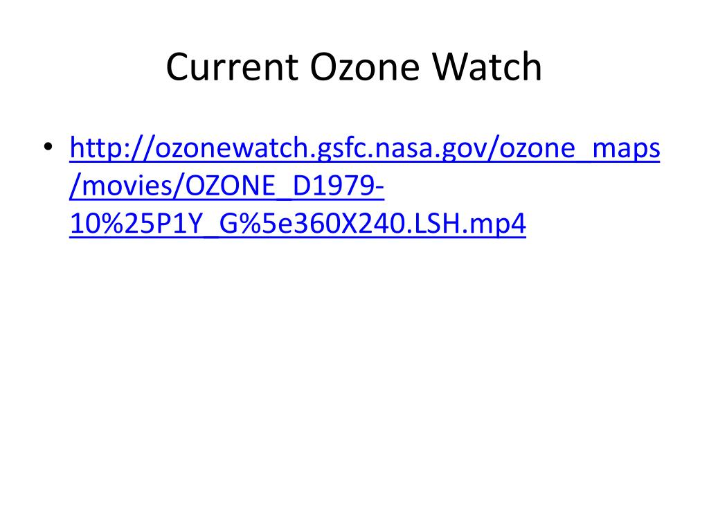 Current Ozone Watch
