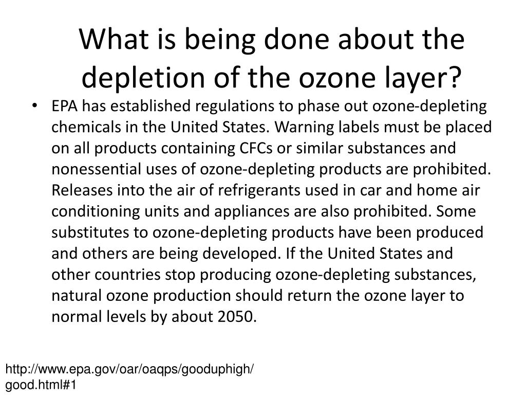 What is being done about the depletion of the ozone layer?
