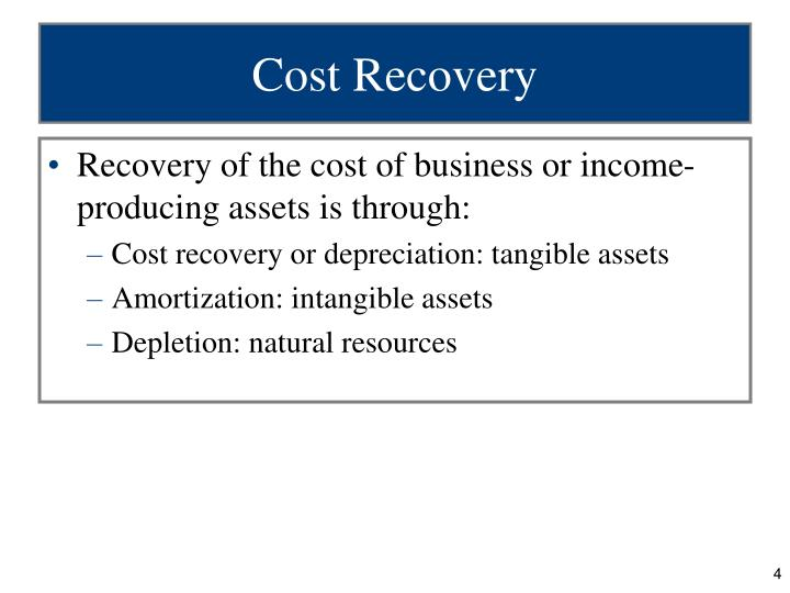 Cost Recovery