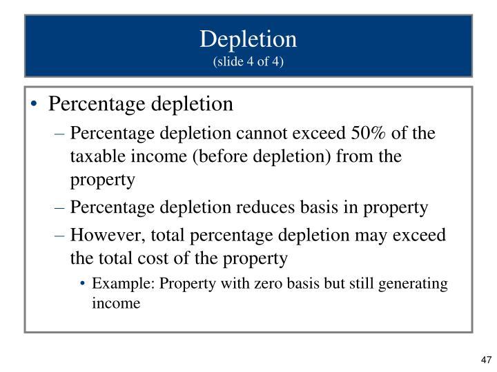 Depletion