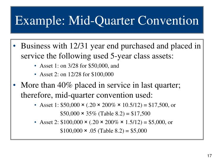 Example: Mid-Quarter Convention
