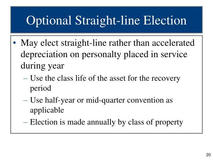 Optional Straight-line Election