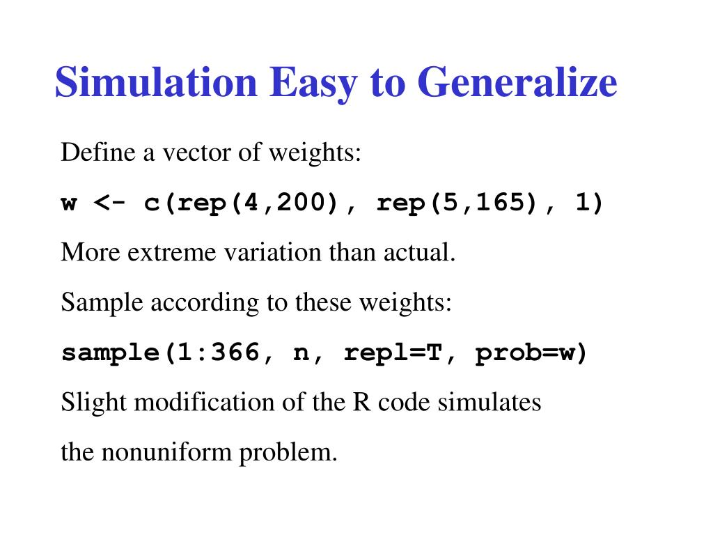 Simulation Easy to Generalize