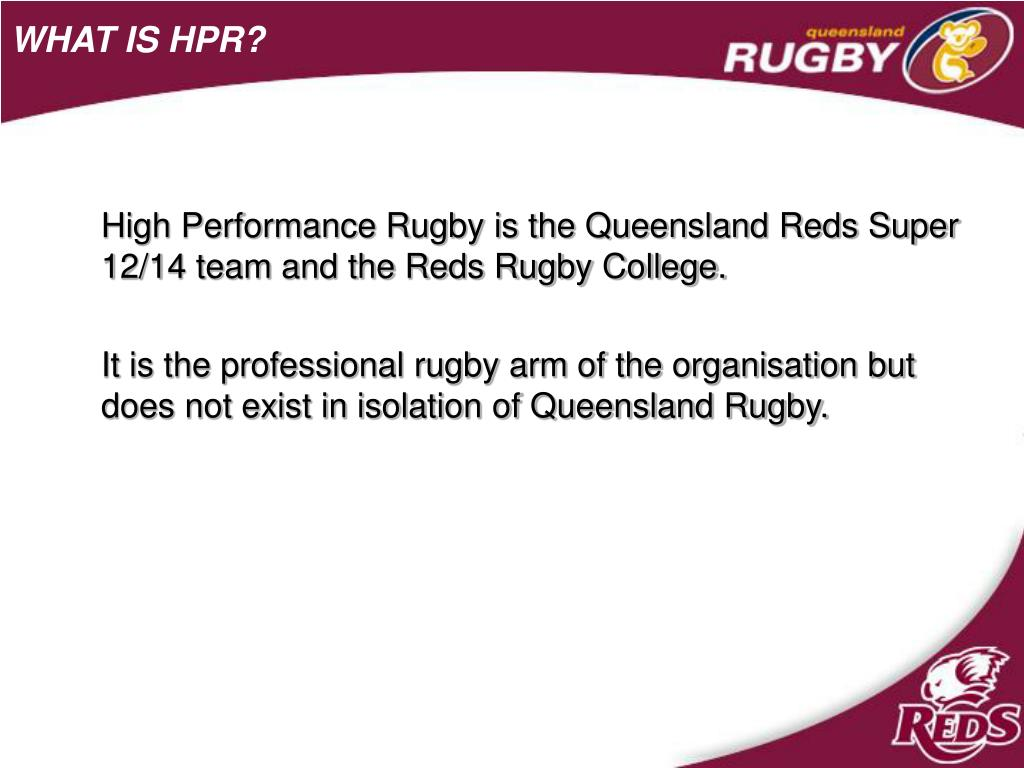 WHAT IS HPR?
