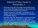 important policy issues to remember 1