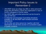 important policy issues to remember 2