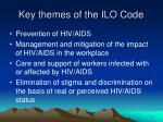 key themes of the ilo code