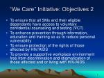 we care initiative objectives 2