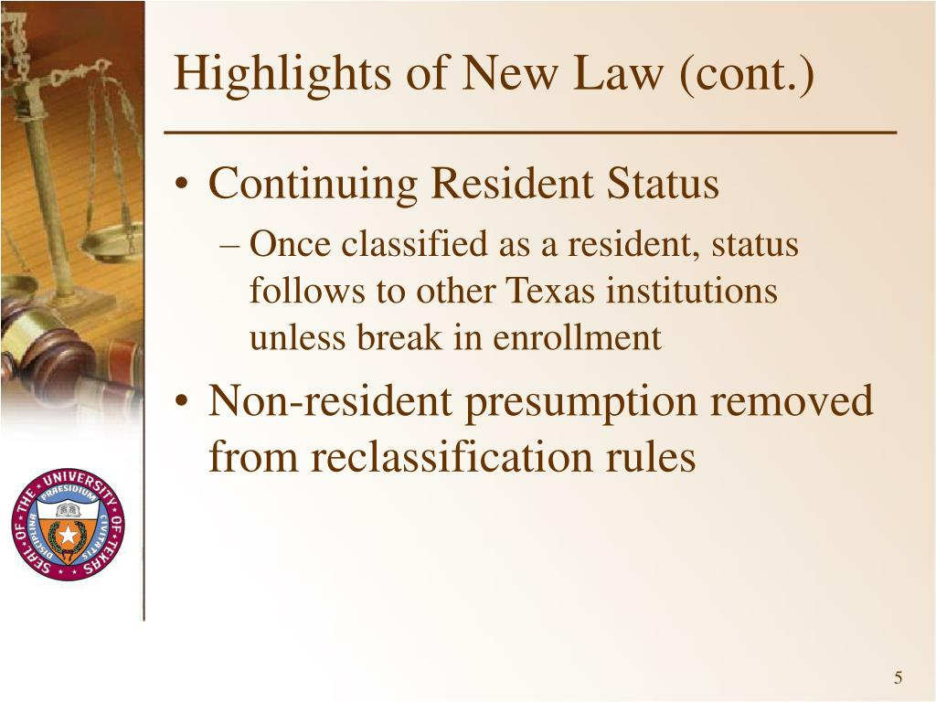Highlights of New Law (cont.)