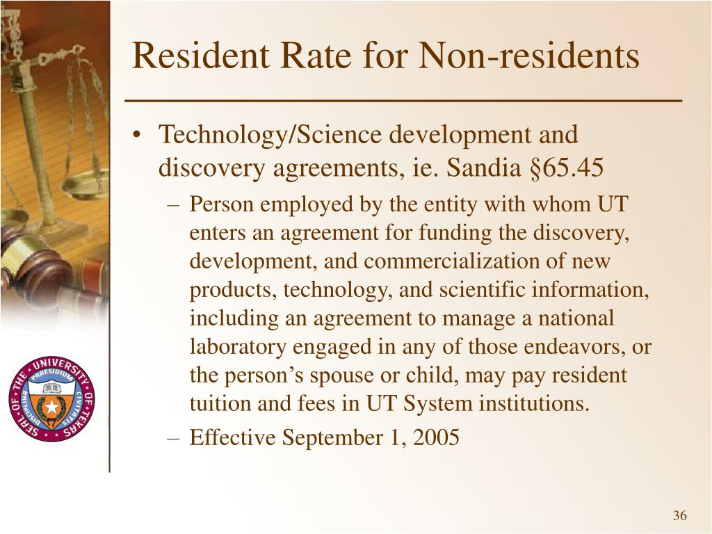 Resident Rate for Non-residents