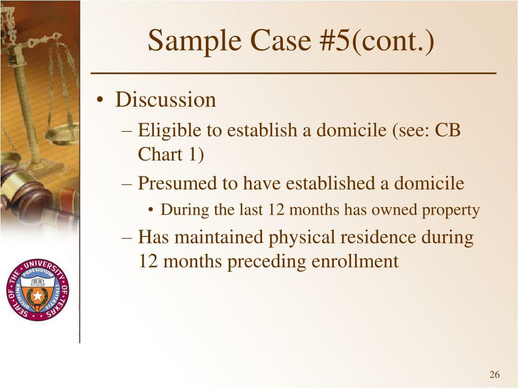 Sample Case #5(cont.)