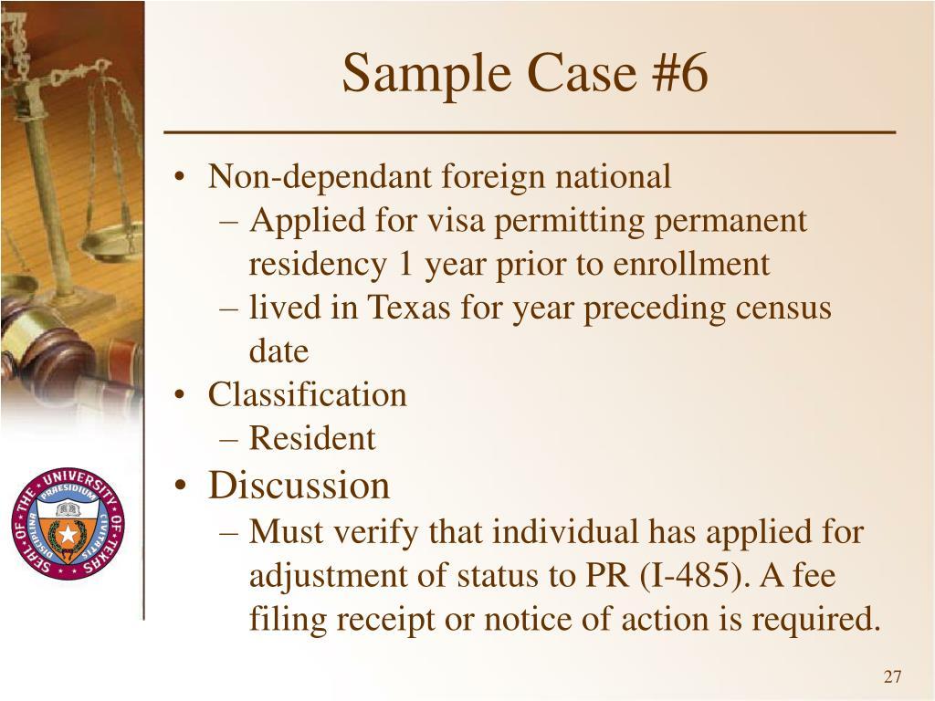 Sample Case #6