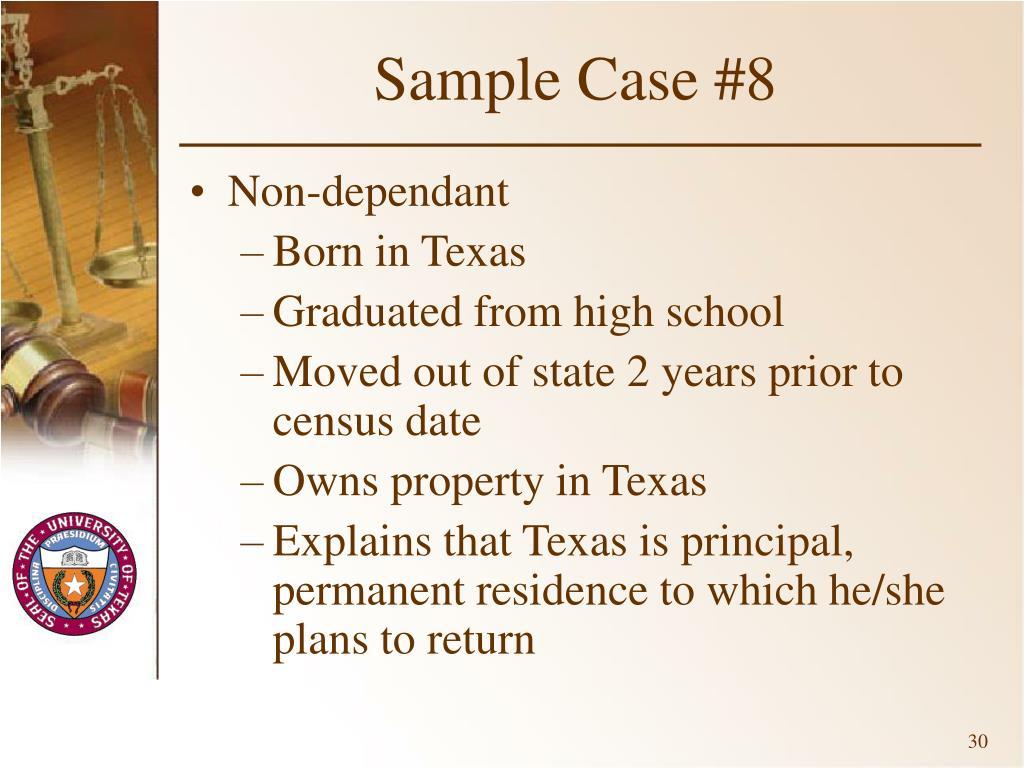 Sample Case #8