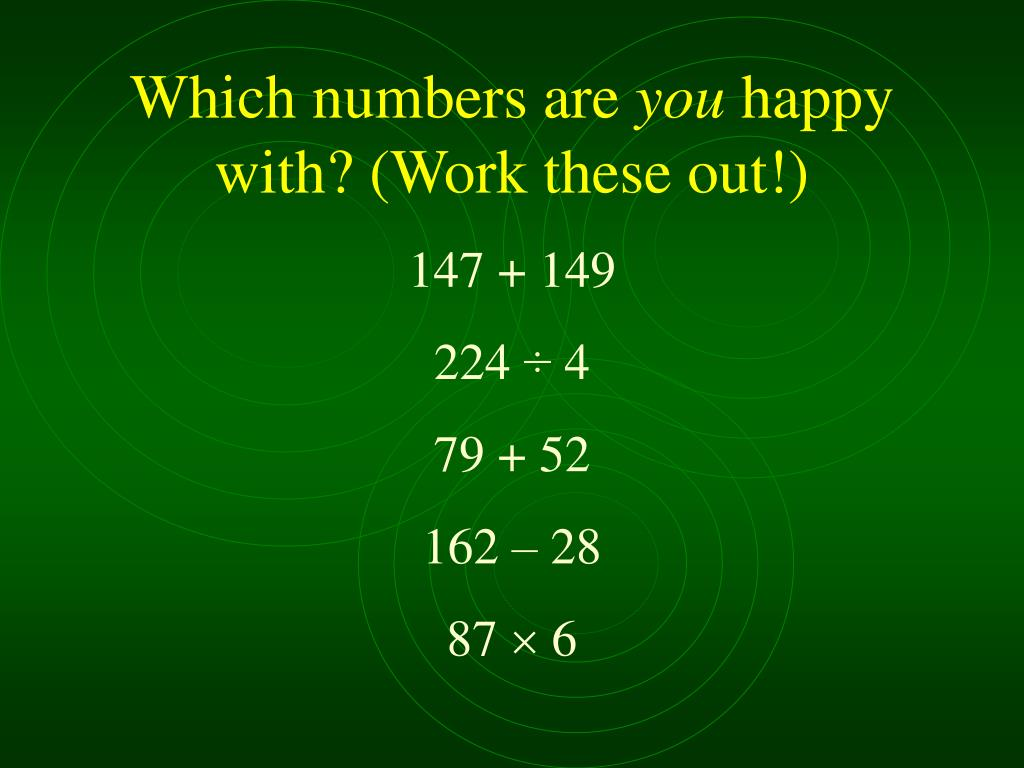 Which numbers are