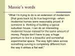 massie s words