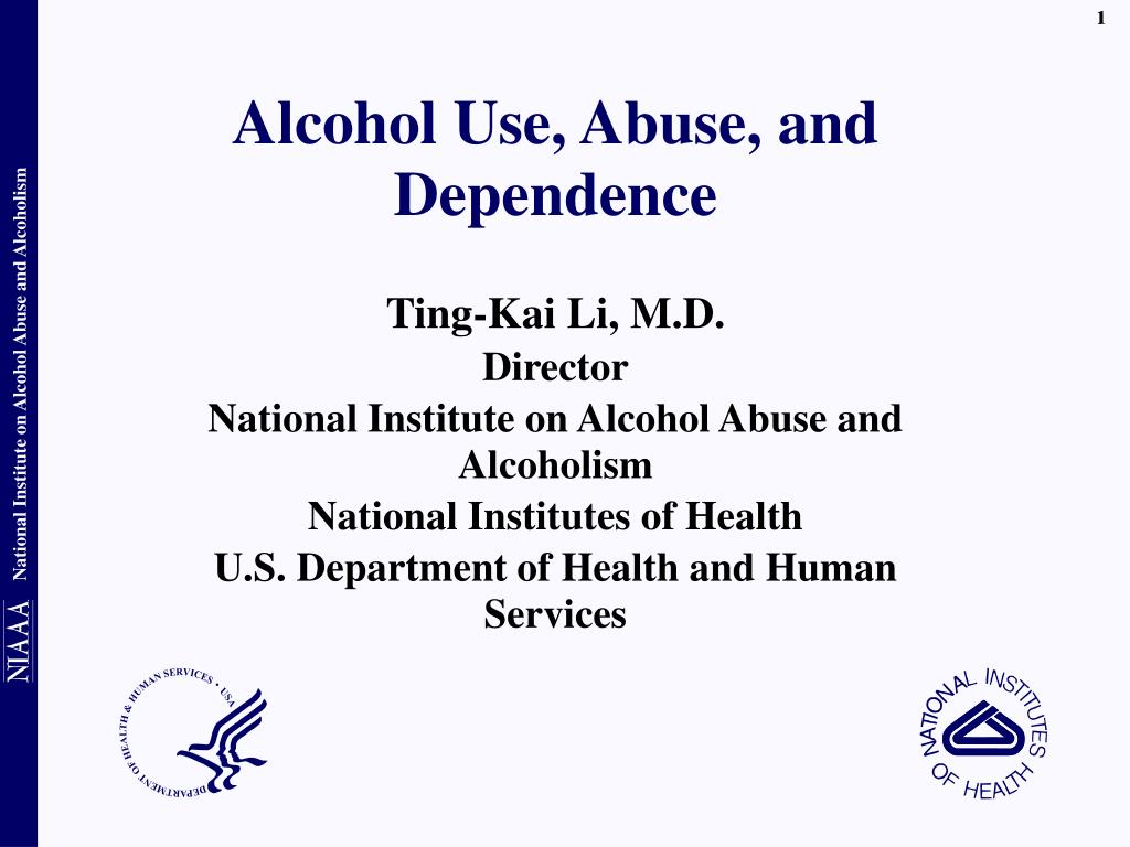 Alcohol Use, Abuse, and Dependence